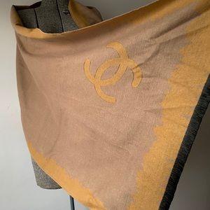 CHANEL Accessories - Authentic Chanel Cashmere Silk Scarf Shawl